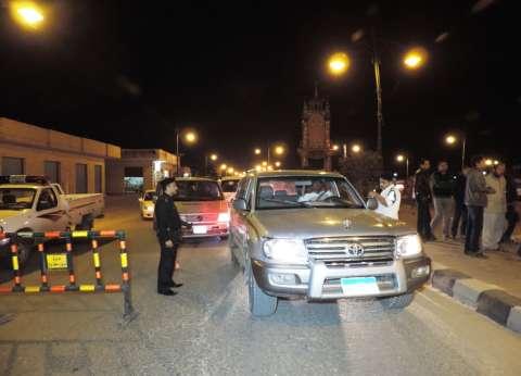 بالصور| مدير أمن مطروح يقود حملة مرورية مكبرة بشوارع المحافظة