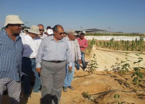 بالصور| وزير الزراعة يتفقد محطة بحثية إرشادية بمشروع غرب المنيا