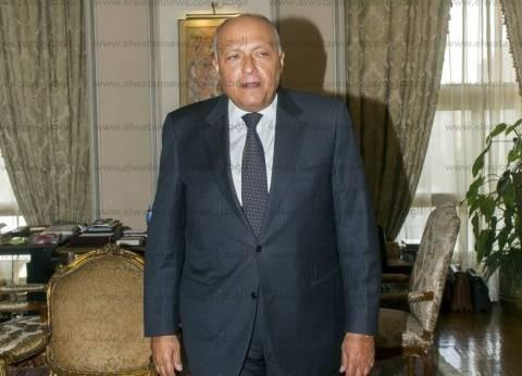 وزير الخارجية: نرفض التدخل الخارجي أو الحل العسكري في الأزمة الليبية