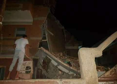 إصابة ربة منزل في انهيار جزئي لمنزل بسوهاج