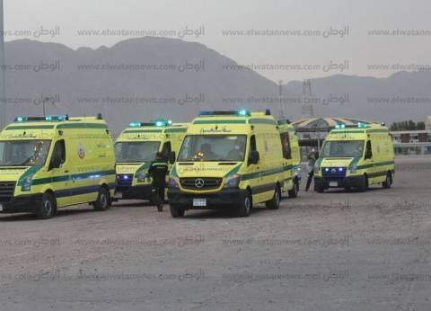مصرع سيدة وإصابة زوجها في حادث تصادم بالفيوم