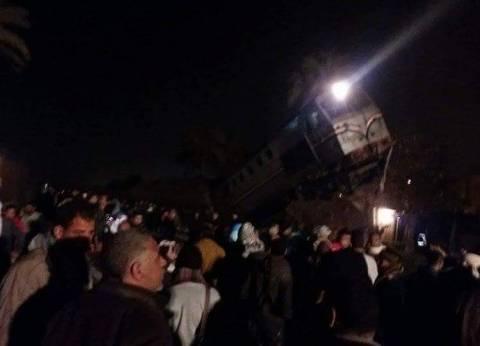 عاجل| 70 مصابا في حادث انقلاب عربتي قطار في بني سويف حتى الآن