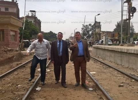 """رئيس """"السكة الحديد"""" يتفقد خطوط المنطقة المركزية والدلتا في جولة مفاجئة"""