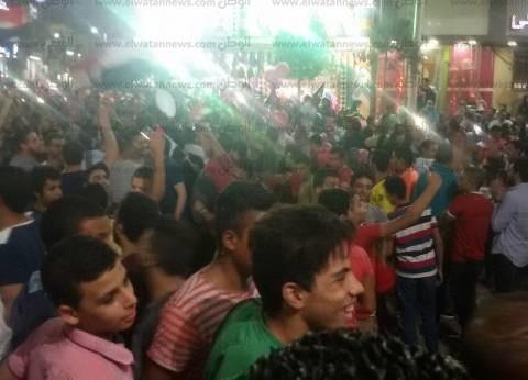 احتفال آلاف المواطنين ببني سويف بعد تأهل مصر لكأس العالم