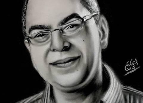 """إيمان ترسم """"بورتريه"""" للراحل أحمد خالد توفيق: من حبي وحزني عليه"""