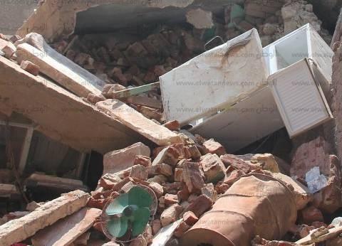 انهيار أجزاء من منزل في سوهاج