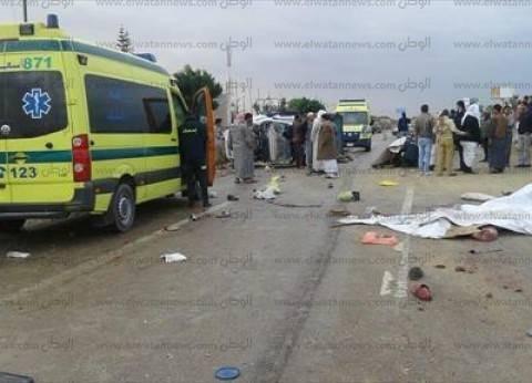 مصرع شخصين وإصابة 6 في حادث تصادم بمدينة العلمين بمطروح