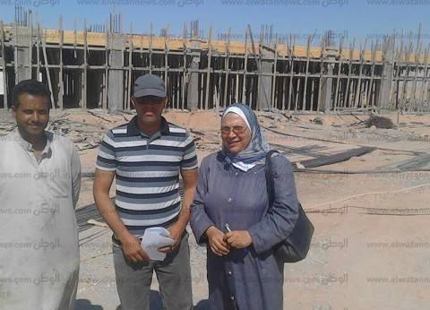 """""""تعليم جنوب سيناء"""" يتابع عملية إنشاء مدرسة أبورديس الثانوية الصناعية"""