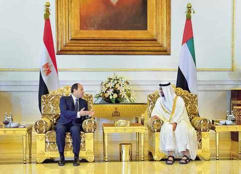 «السيسى»: أمن الخليج من أمن مصر و«بن زايد»: نقف معكم ضد الإرهاب