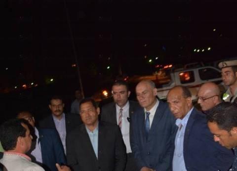 """صقر يتفقد أعمال المنطقة الصناعية على مساحة 34 فدانا بـ""""الغزل والنسيج"""""""