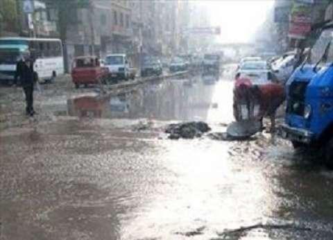 انفجار ماسورة مياه في شبرا الخيمة يمنع الناخبين من الوصول إلى لجان الاقتراع