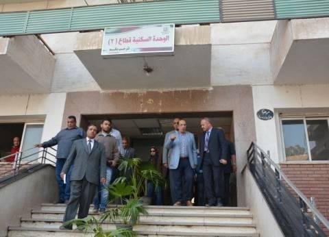 رئيس جامعة أسيوط يتفقد مباني المدينة الجامعية