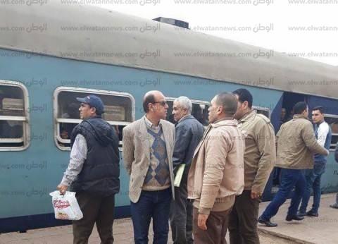 """""""السكة الحديد"""": حركة القطارات لم تتأثر بحريق الحلفا في المنيا"""