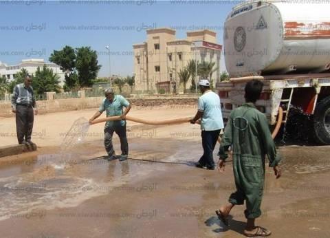 بالصور| تجهيز وإعداد ساحات صلاة عيد الأضحى بمدينة أبورديس