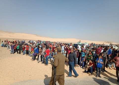 """وفود سياحية وعائلات منياوية تحتفل بشم النسيم بـ""""آثار تونا الجبل"""" بملوي"""