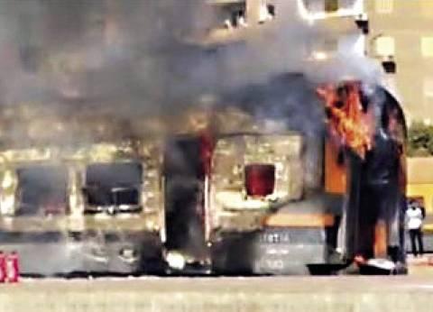 حريق في قطار بمحطة مصر