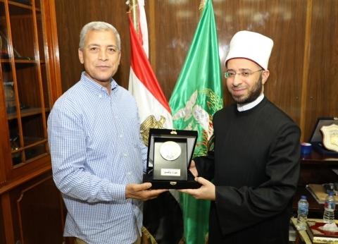 محافظ المنوفية يستقبل الدكتور أسامة الأزهري بمكتبه في الديوان العام