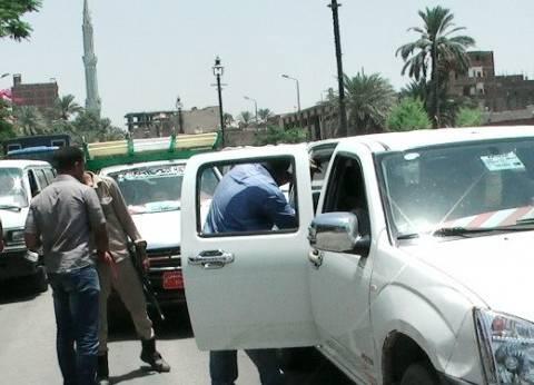 ضبط 1809 مخالفات مرورية وتنفيذ 1495 حكما قضائيا في المنيا