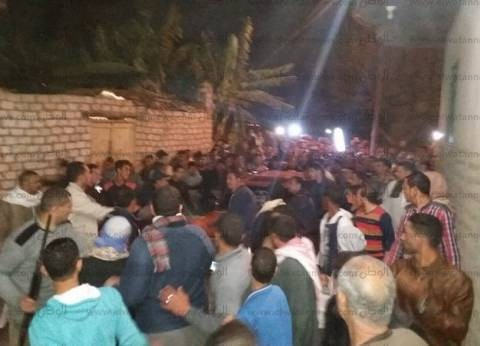 أهالي كوم حمادة بالبحيرة يشيعون جثمان شهيد تفجير كاتدرائية الإسكندرية