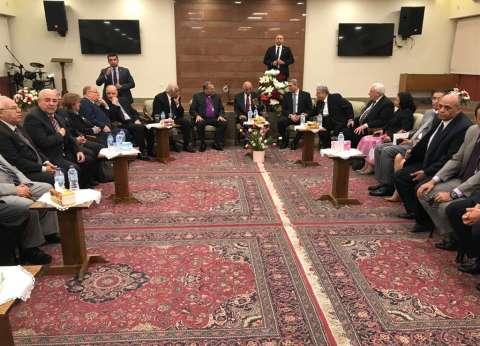 عمرو موسى ووزيرة الهجرة يشاركان باحتفال الإنجيلية بعيد القيامة المجيد