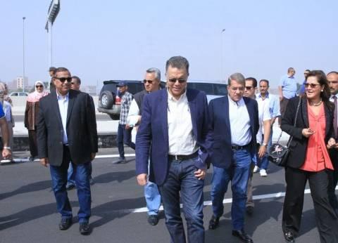 """وزراء النقل والمالية والتخطيط في جولة تفقدية بطريق """"شبرا - بنها الحر"""""""