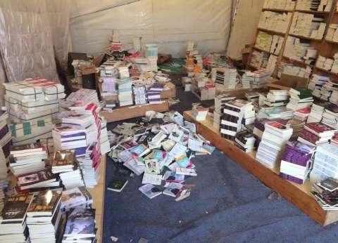 الأمطار تغرق دور نشر في معرض الكتاب.. و«الناشرين»: لجنة لبحث التعويضات