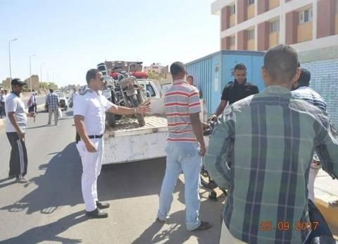 استمرار الحملات المرورية لليوم الثاني بالقصير في البحر الأحمر
