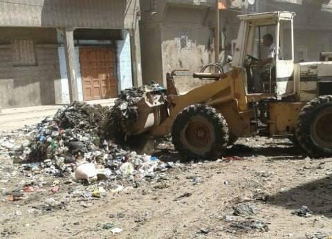 حملة نظافة بالمبيدات في مدينة عزبة البرج بدمياط