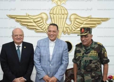 القوات المسلحة تنظم احتفالية فنية لطلاب الطلائع بوحدات المظلات