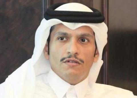 """وزير خارجية قطر يبرر قطع كلمة تميم على """"الجزيرة"""""""