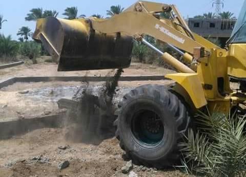 إزالة 4 تعديات على الأراضي الزراعية في دمياط