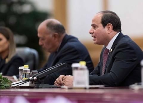 «السيسى»: مصر مهتمة بالتعاون مع الدول النامية لحماية مصالحها