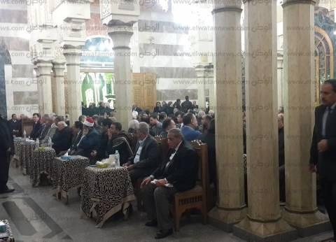 سامي عنان وجمال مبارك وعلي المصيلحي في عزاء إبراهيم نافع