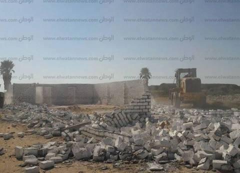 إزالة 12 حالة تعدي على أملاك الدولة في بني سويف
