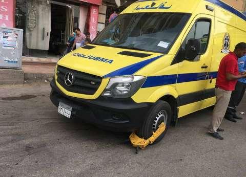 إصابة مفتش الأمن العام بالجيزة في حادث انقلاب سيارة
