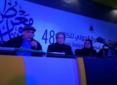 """الفنان الكبير محمد سلطان في ندوة """"حكايات الزمن الجميل"""" بمعرض الكتاب"""