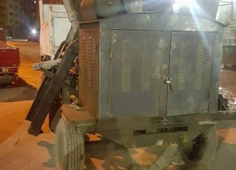 إزالة سيارات متهالكة ومصادرة مواد بناء مخالف بعين شمس
