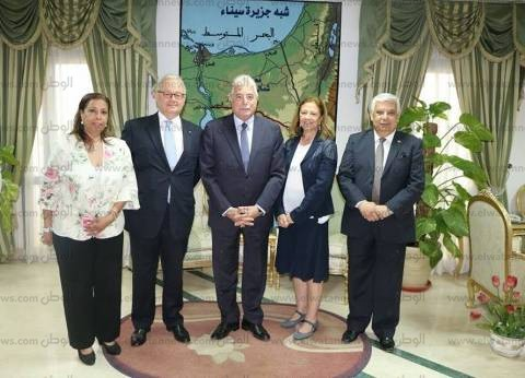 محافظ جنوب سيناء يبحث مع سفير إيطاليا سبل التعاون المشترك