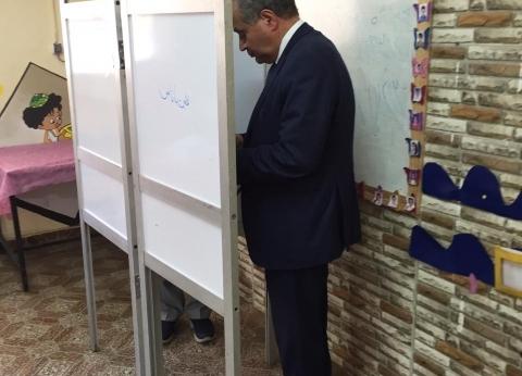 وزير التموين يدلي بصوته في الاستفتاء على التعديلات الدستورية