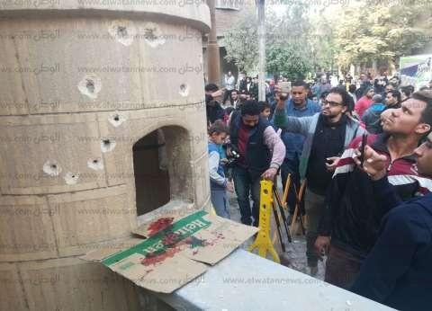 """صور جديدة لآثار الهجوم الإرهابي على """"كنيسة حلوان"""""""