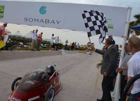 بالصور  بمشاركة 150 طالبا.. انطلاق مسابقة السيارات الكهربائية بالغردقة