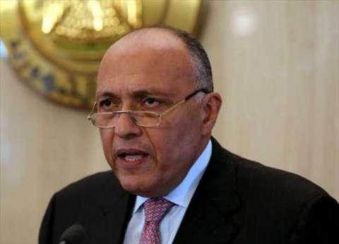 وزير الخارجية الفرنسي يلتقي غدا سامح شكري في باريس