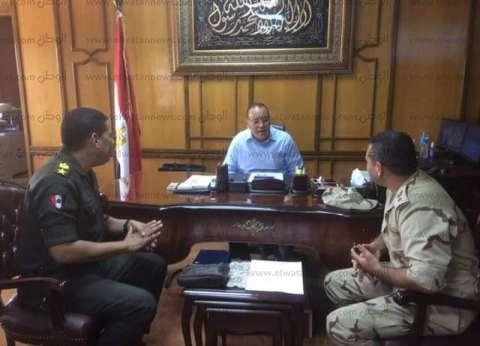 """رئيس جامعة قناة السويس يستقبل مدير """"التربية العسكرية"""" الجديد"""