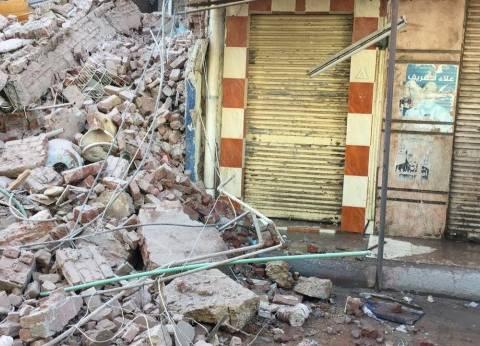 محافظ الإسكندرية: إخلاء العقار المنهار من السكان قبل انهياره