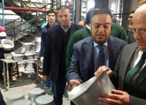 محافظ بورسعيد يفتتح مصنع لإنتاج أواني الطهي بالمنطقة الصناعية