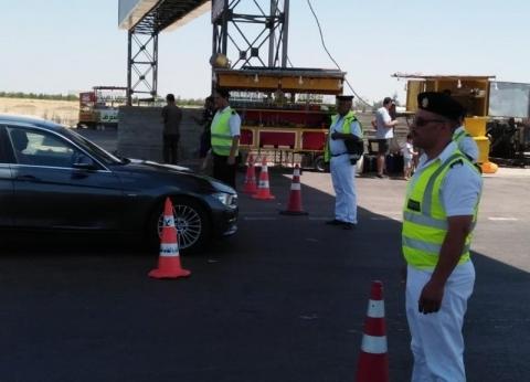 مساعد وزير الداخلية ومدير المرور يتفقدان الطرق في أول أيام الدراسة