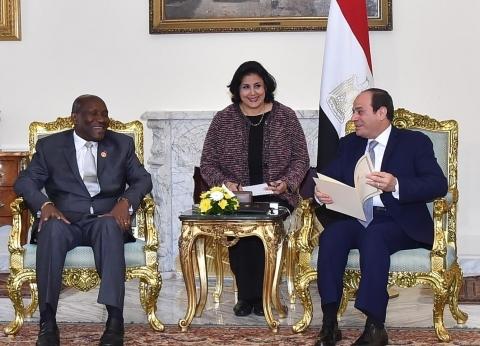 السيسي يرحب بزيارة كوت ديفوار ويعد بتلبية دعوة رئيسها في أقرب فرصة