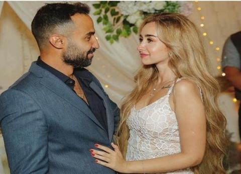 أول صورة من حفل زفاف أحمد فهمي وهنا الزاهد