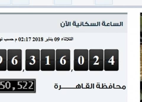 """""""التعبئة العامة والإحصاء"""": عدد سكان مصر يتخطى 96 مليون نسمة"""