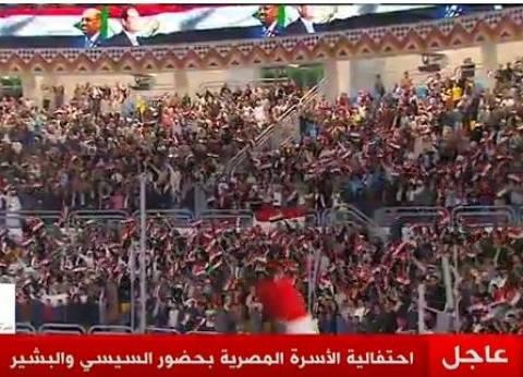 """""""قالوا إيه"""" تهز ستاد القاهرة بحضور السيسي والبشير"""